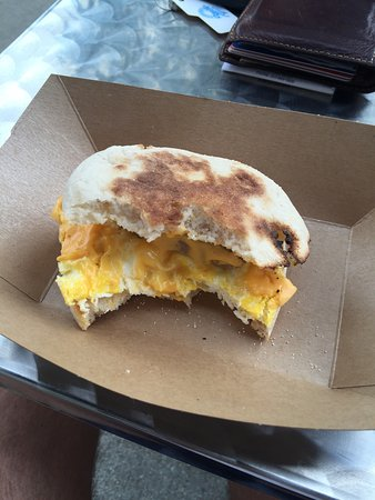Carmel, IN: Cinnamon toast and All American breakfast sandwich