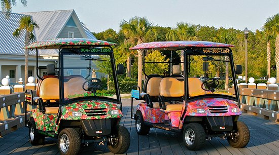 Jacksonville Beach, FL: 4 AND 6 Passenger, Street Legal Golf Cart Rentals