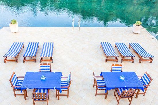 Korcula Waterfront Accommodation: Korcula's largest private waterfront terrace for swimming & sunbathing