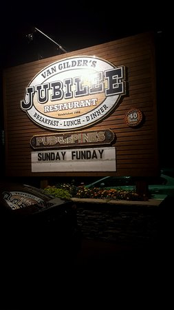 Jubilee Restaurant: road sign