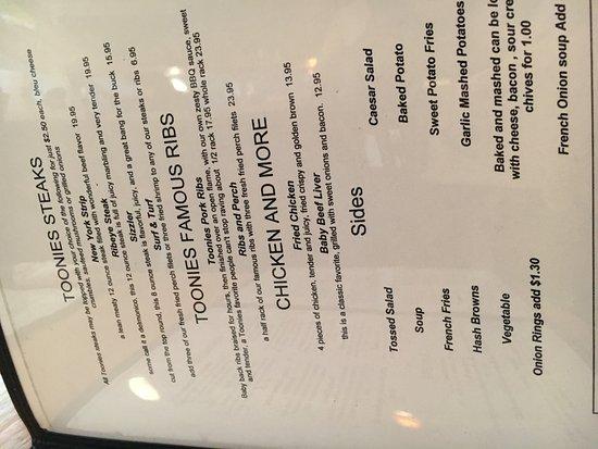 Bellaire, ميتشجان: menu