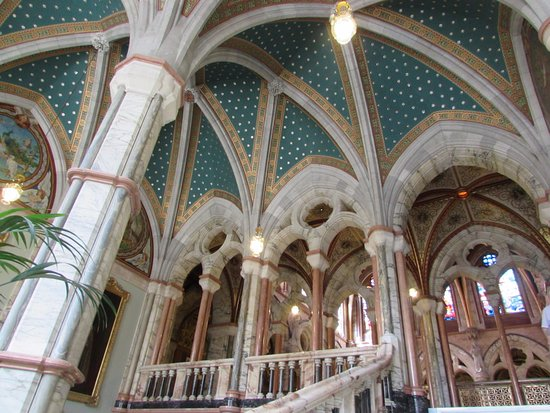 The roof of the marble staircase, Mount Stuart, Isle of Bute