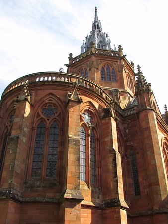 Part of the exterior architecture, Mount Stuart, Isle of Bute