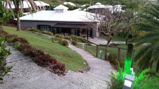 Sugar Ridge: Reception is straight ahead, down the steps.
