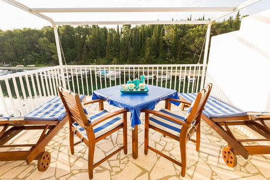 Korcula Waterfront Accommodation: Sunrise from your private waterfront balcony