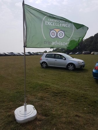 Climping, UK: Flying our TripAdvisor flag for excellence in 2016!!!
