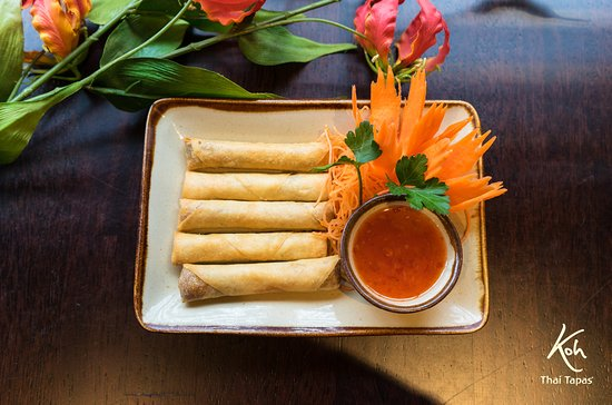 ‪‪Ringwood‬, UK: Spicy spring rolls ‬