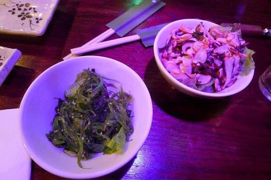 Plainsboro, NJ: Seaweed salad and squid salad