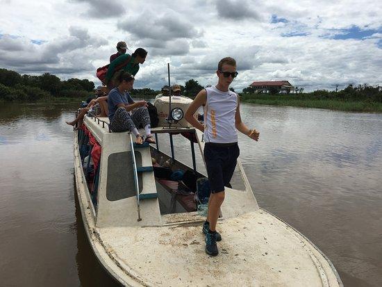 Battambang, Kambodża: our boat