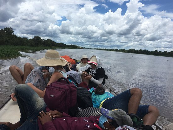 Angkor Express Boat: sitting on the roof of the boat