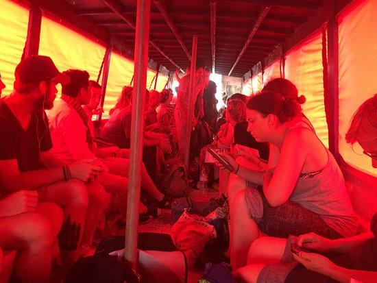 Angkor Express Boat: inside while it rains heavily