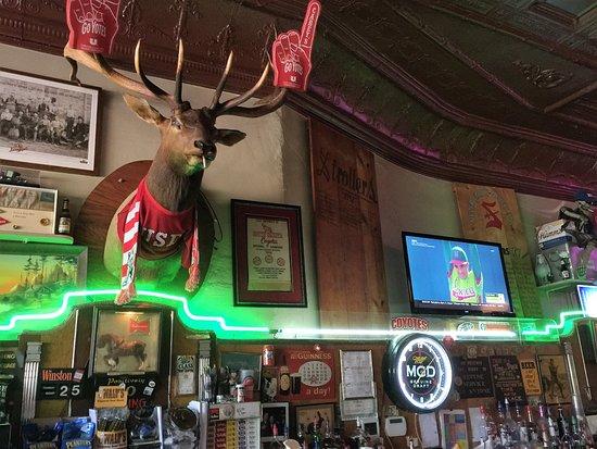 Vermillion, Dakota del Sur: Carey's Bar taproom decor