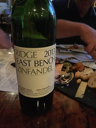 De Pere, WI: Zinfandel recommended by Ryan, our server
