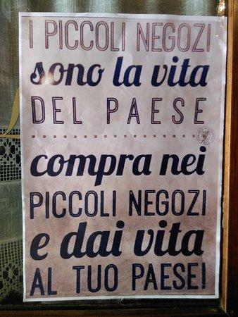 Monghidoro, Italia: Une invitation à consommer des produits locaix