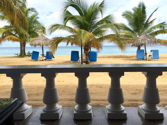 Jamaica Inn: Verandah railing and view beyond