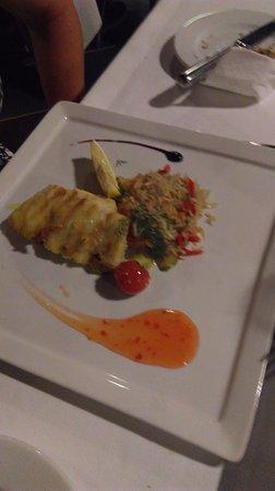 Minos Beach Art hotel: Dinner in the restaurant