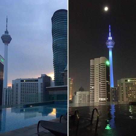 Fraser Place Kuala Lumpur: Bellissima piscina vista KL tower