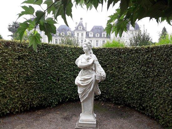 Cheverny, Francia: jardín.