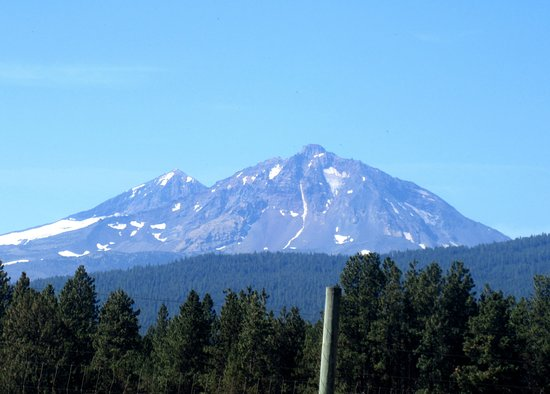 Scenic Start from the Sisters, Oregon side of McKenzie Pass-Santiam Pass Three Sisters Mtn, Oreg