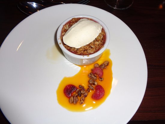 Lucy Maud Dining Room: strawberry rhubarb cobbler that came with four-course menu option
