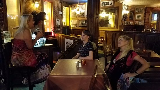 Supano's Steakhouse : Debra singing to my son and wife
