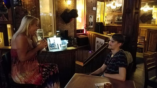 Supano's Steakhouse : Debra singing to my son
