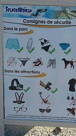 Monteux, Francia: Autorisé / Interdit