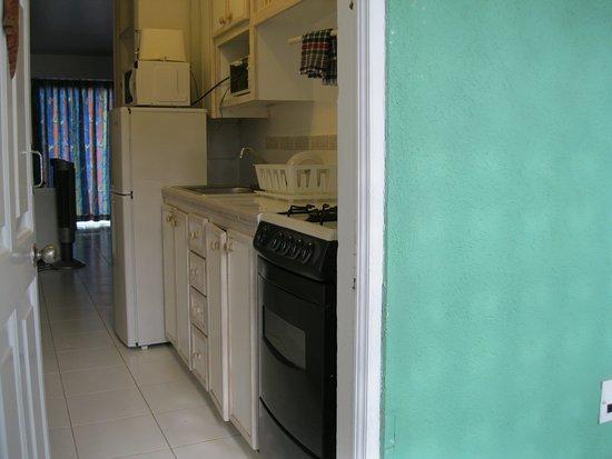 Pirate's Inn: Entrance to room - kitchenette