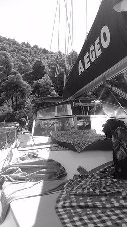 Skiathos Town, Grekland: gorgeous yacht