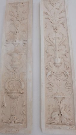 Coreglia Antelminelli, Italy: Detail of plasterwork
