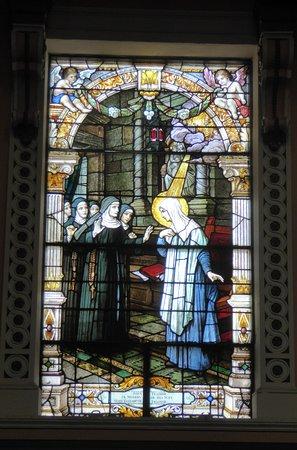 National Shrine of St. Rita of Cascia: Stained Glass Window of St Rita