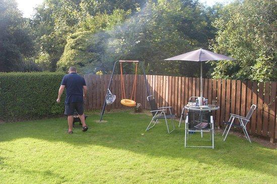 Lamlash, UK: BBQ in garden