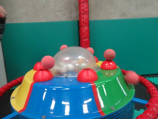 Harlech, UK: One of several very unusual pneumatic ball toys