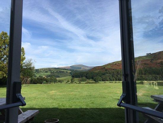 Machynlleth, UK: View at breakfast