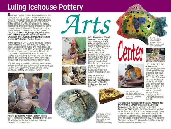 Luling Icehouse Pottery Arts Center.