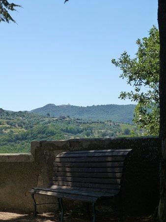 Castel Del Piano, Italie : Vista dal ristorante