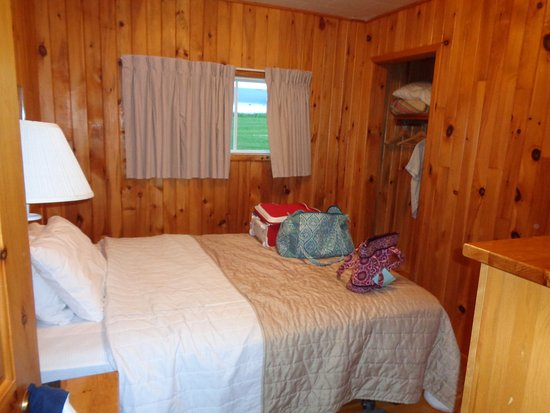 Cavendish Beach Cottages: The second bedroom -- luv the pine throughout!