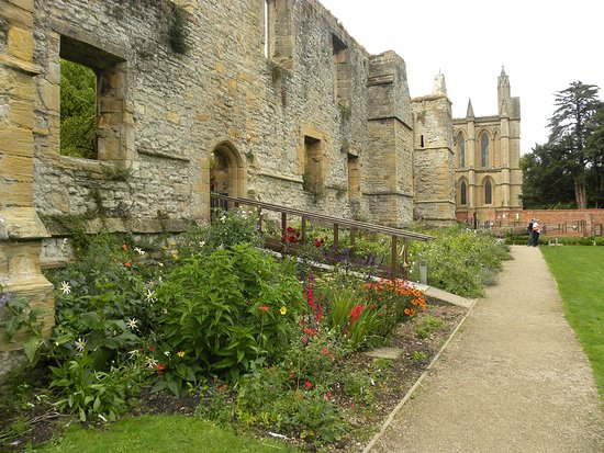 The flower border at the Sensory Garden, Archbishops Palace, Southwell