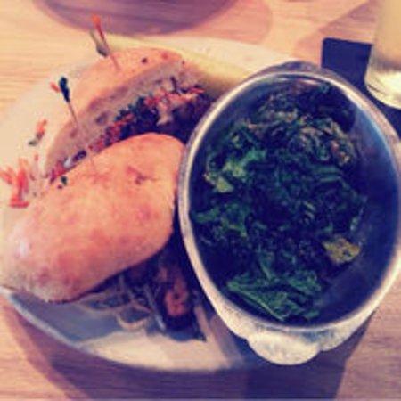 Tempeh banh mi with sautéed kale