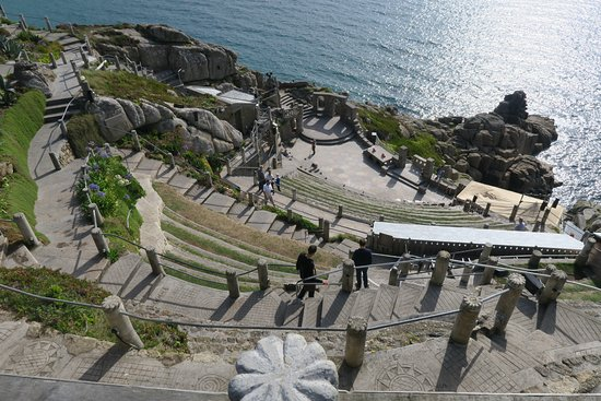 Minack Theatre: Looking down at the stage - awesome