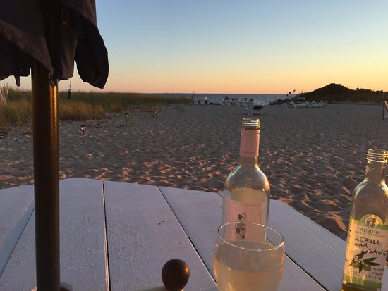 Sandbars on Cape Cod Bay: Dinner at sunset.