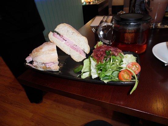 Cromford, UK: Ham ciabatta sandwich