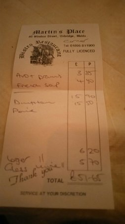 Uxbridge, UK: Lovely small setting with a lovely little menu, and very little on the pocket...