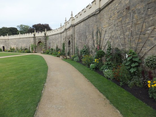 The enclosed garden Picture of Bolsover Castle Bolsover