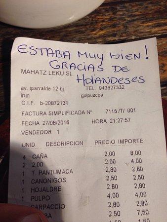 ไอรัน, สเปน: Vinoteca