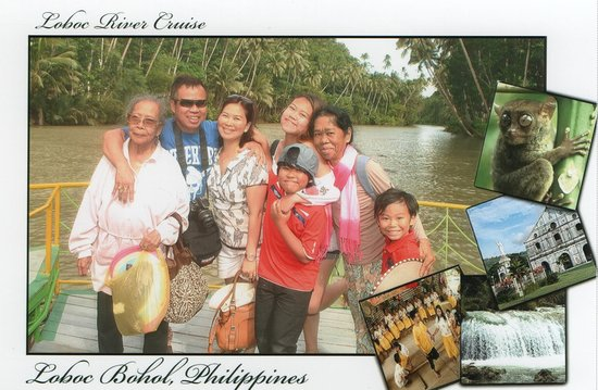 Loboc, Filipinas: Family souvenir photo
