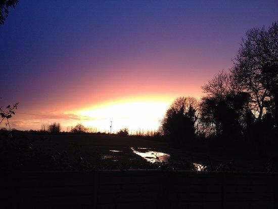 An Irish sunset in the Ward, nth County Dublin.