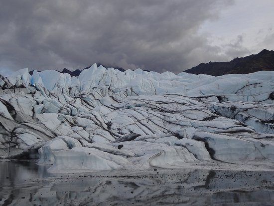 Glacier View, AK: The ice fall region at the front of the glacier