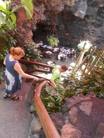 Punta Mujeres, España: Der Einstieg in die Grotte