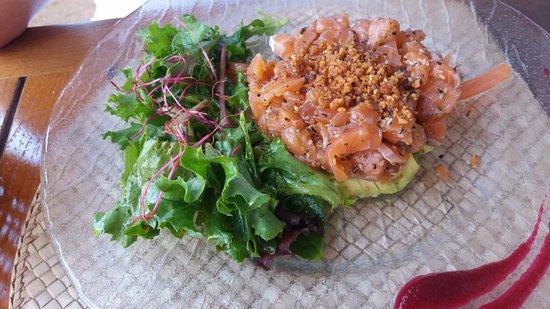 Lacanau, France: tartare de saumon
